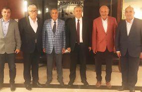 BELTAŞ A.Ş. Yönetim Kurulu üyelerimiz Belediye Başkanımız Sn. Mansur YAVAŞ'ı makamında ziyaret etti